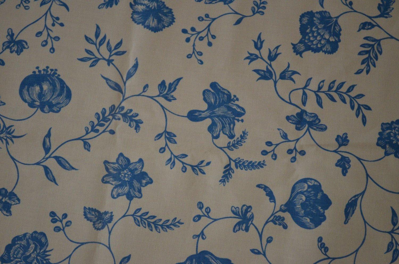 Gaston Y Daniela Brunschwig Sample Remnant Fabric Flores Indianas Light Blue 2pc