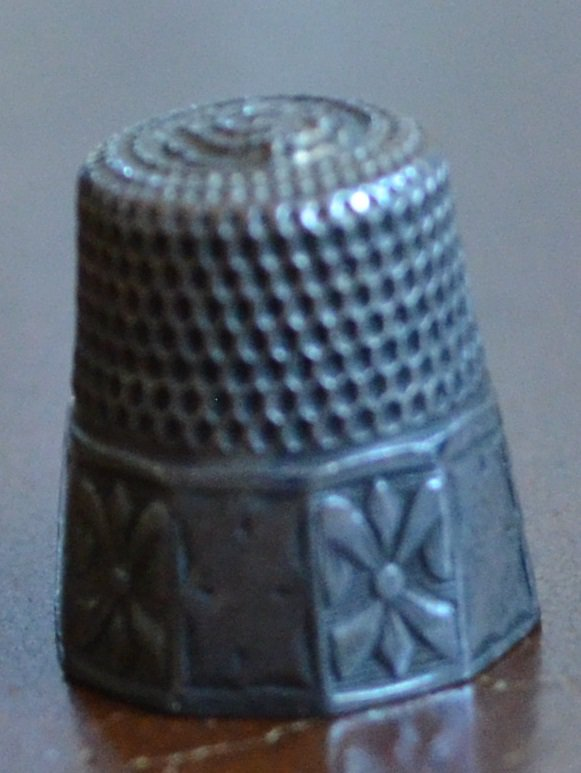Vintage Sterling Silver Thimble Size 7 SC or SCC Anchor 10-Sided