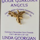 Angel Pin Your Guardian Angels Linda Georgian 1994 Book Promo Metal Cherub Card