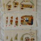 Vintage Fukuda Card Company Note Cards 12 Designs Box Japan Kamakura Winter