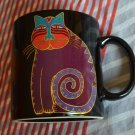 Laurel Burch Mythical Cat 12-oz Mug Coffee Cup Black Purple Japan Nice