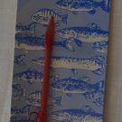 Vintage Burke Fishing Lure Erthworm Red Earth Worm 800 Lifelike Plastic NOS