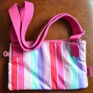 Kipling Stripes Pink Bag Small Crossbody Messenger Star Pin