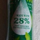 Starbucks 2009 Travel mug 16 Oz Tumbler Green 28% Recycled Plastic Water Unused