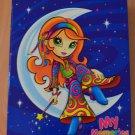 Lisa Frank Hippie Moon Girl 3 Ring Binder Crescent Blue My Memories