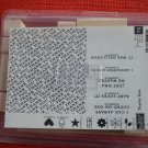 Stampin Up Thanks Tons Rubber Stamps New Set of 13 Unmounted Wood Thank You