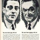 NEWSWEEK Vintage Print Ad Fact Opinion 1960s Benjamin Bradlee Walter Lippmann