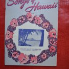 Songs of Hawaii Songbook Sheet Music Miller Music 1950 Paperback