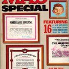 MAD MAGAZINE SPECIAL #22 w/ CERTIFICATES DIPLOMA AWARDS