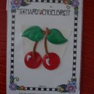 NWT Mary Engelbreit Iron-on Stick-on Embroidered Applique Cherries Cherry 3825