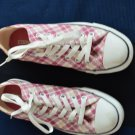 Pink And White Converse All Star 5 Women's Size 7 Checkers Sneakers