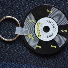 Seagram's Cooler Key Ring Keychain Cool Classics Record LP Vinyl 45 Rubber