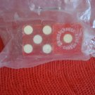 ORMSBY HOUSE CARSON CITY CASINO VINTAGE PISTOL LOGO DICE PAIR RED