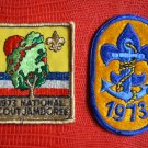 1973 BSA Patch Boy Scouts of America Lot 2 National Jamboree Fleur de Lis Anchor