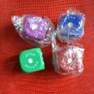 Lot 4 Vintage Ftizgeralds Hotel Casino Reno NV Dice Green Blue Red Purple