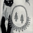 1960s Harry Winston Vintage Print Ad Siamese Cat with diamond eyes Jewelry