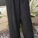 CITRON SANTA MONICA BLK Asian Trim CROPPED PANTS NWT L