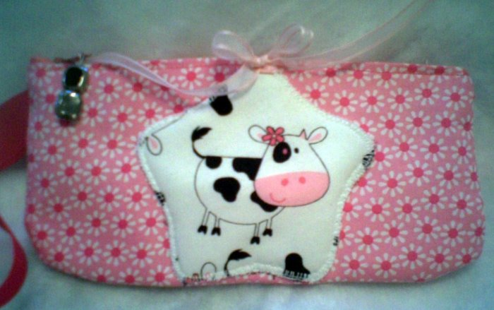 Happy Cow Wristlet or Eyeglass Case