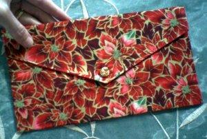 Poinsettia Envelope Clutch