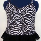 Misses Zebra Print Cami with Ruffle Bottom