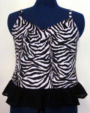Misses Zebra Print Cami with Ruffle Bottom