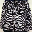 Misses Zebra Print Shorts