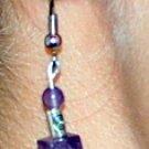 Amethyst cube beads