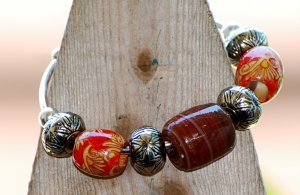 Wood Bead Bangle