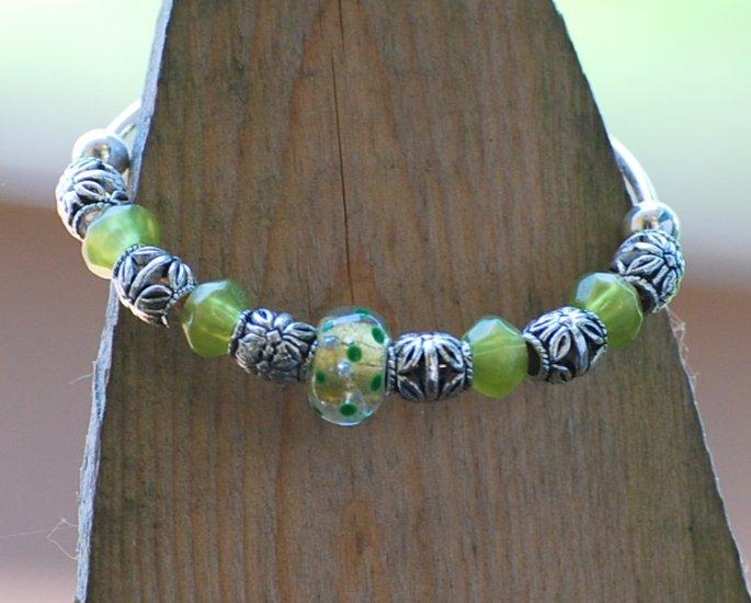 Acrylic colorful bangle bracelet