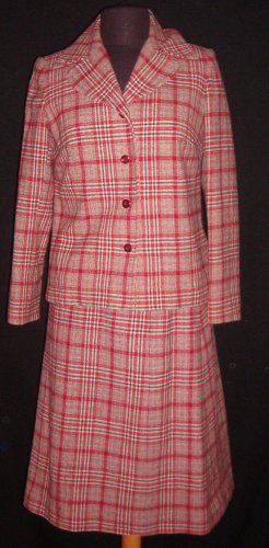 New Red Plaid 50's 3 Piece Suit