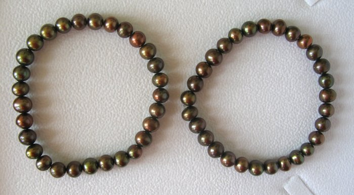 Freshwater Chocolate Pearl Stretch Bracelets