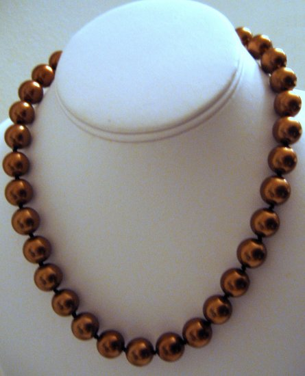 "18"" South Sea Shell Brown Pearl Necklace 12mm FREE SHIPPING"