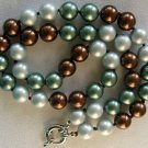 """20"""" Multi-Colored Brown Mother of Pearl Necklace"""