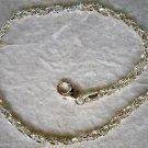 "Italian Made Braided Sterling Silver Ankle Bracelet 9"""