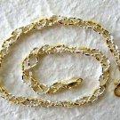 "Italy Sterling Silver & 14k Gold Bracelet 8"""