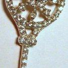 Sterling Silver Snowflake Key Pendant or Charm