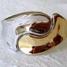 Two-Tone Fashion Bangle Cuff Bracelet