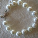 "7"" White Mother of Pearl Bracelet 10mm Sterling Silver"