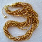 "10-Strand Twisted Champagne Seed Pearl Necklace 17""-19"""