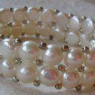 Handmade Two-Strand Cultured Pearl Stretch Bracelet