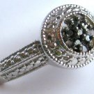 Vintage Inspired Black Diamond Ring Size 8