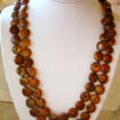 "48"" Golden Brown Color Freshwater Cultured Pearl Necklace"