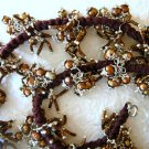 "20"" Chocolate Brown Color Cultured Pearl Cluster Necklace"