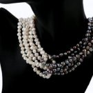 Black and White Freshwater Cultured Pearl Necklace