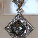 Champagne Brown Diamond Sterling Silver Dangle Earrings