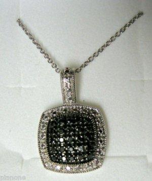 .25 CT Black Diamond Sterling Silver Pendant