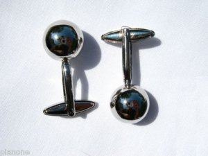 14mm Ball Stainless Steel Plated Copper Cufflinks