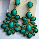 Amrita Singh 18KGP 'Nello' Dangle Earrings Turquoise Color Hampton Collection