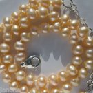 """Cultured Freshwater Pink Seed Pearl & Sterling Silver 10""""-12"""" Ankle Bracelet"""