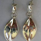 "Nature Inspired Leaf Shape Sterling Silver .925 Dangle Earrings 1.75"" Long"